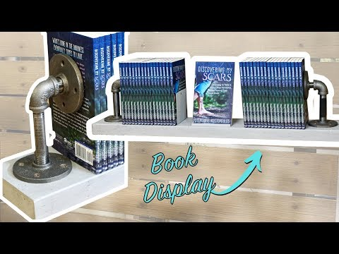 DIY Table Top Book Holder with Metal Pipe