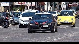 [hd   Sirena Carabinieri] Alfa Romeo 159 Carabinieri In Sirena Military Police Responding With Siren