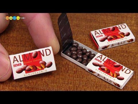 DIY meiji Style Miniature Almond Chocolate (Fake food) アーモンドチョコレート風ミニチュアお菓子作り