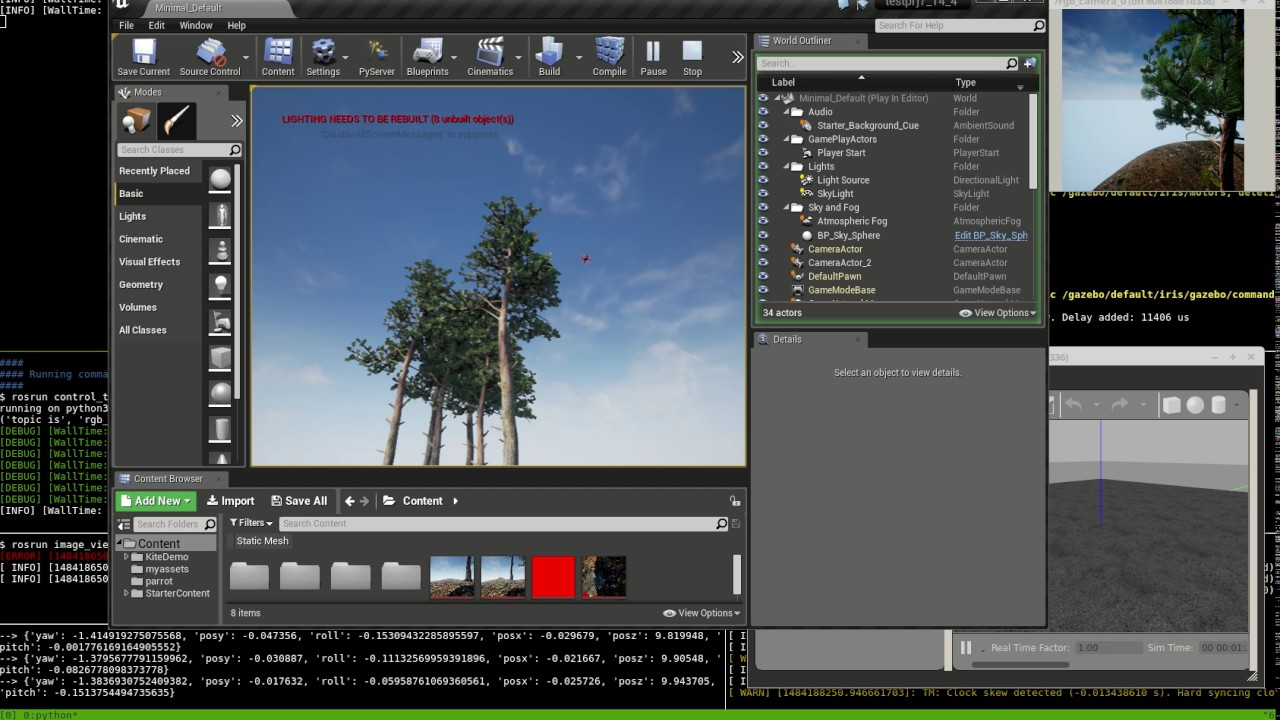 Unreal Engine 4 with px4 SITL and ROS sensor integration