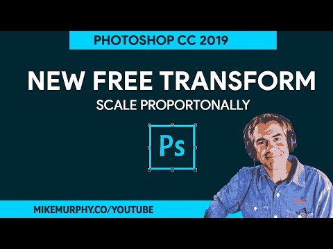 How To Free Transform in Adobe Photoshop CC 2019