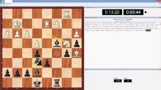 Быстрые шахматы с компьютером в живую 15м+10с партия 2(Играю рапид (быстрые шахматы) с компьютером оболочка Deep Fritz 14 движок Houdini 4 с дальнейшим анализом партий...., 2015-01-24T20:49:25.000Z)