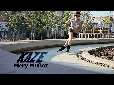 Urban skating Barcelona with Mery Muñoz & the Powerslide KAZE Inline skates