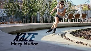 Urban skating Barcelona with Mery Muñoz & the Powerslide KAZE Inline skates 908140
