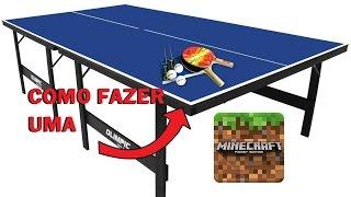 Minecraft Pocket Edition-Tutorial de como fazer uma mesa de ping-pong