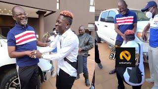 Shatta Wale Bows Before Kennedy Agyapong- His god Father