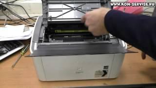 Как вытащить картридж из принтера  Canon LBP 2900. Как вставить бумагу.(Для этого тянем за верх и открываем крышку Canon i-SENSYS LBP2900 . После видим тонер картридж и тянем за него. http://kom-s..., 2015-02-16T02:51:04.000Z)