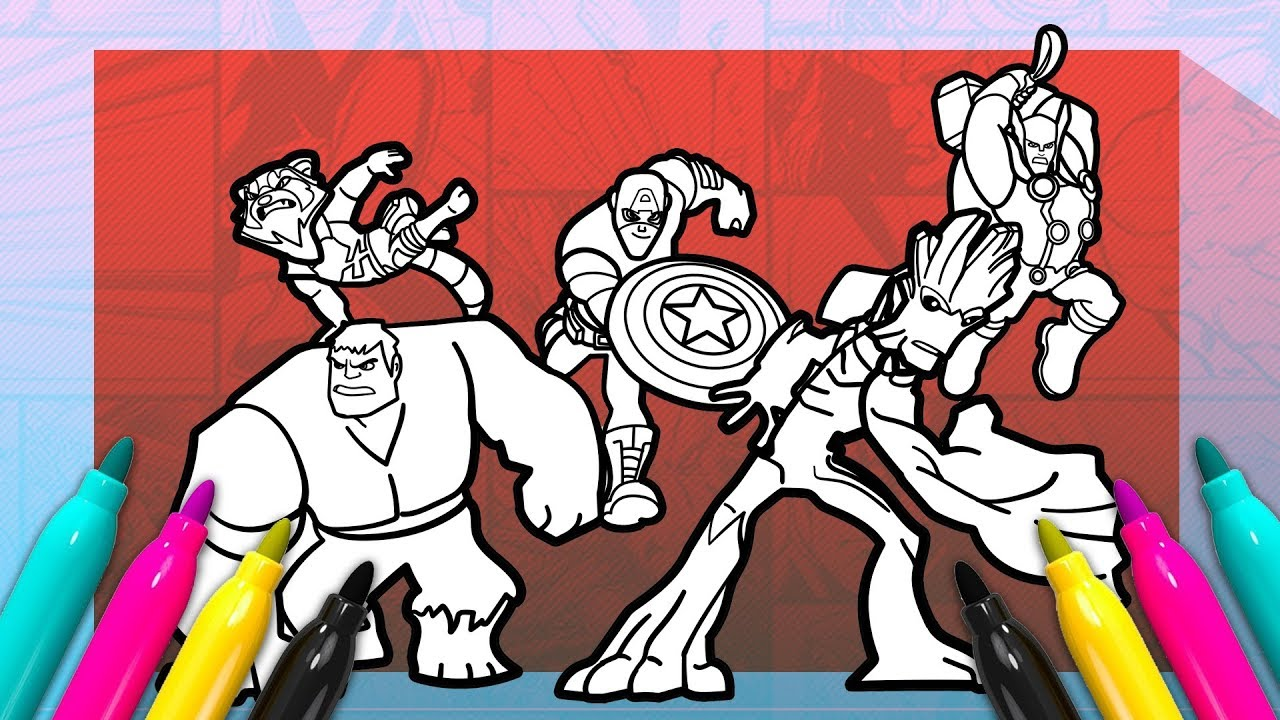 Disney Infinity Avengers Coloring Page How To Draw Super Heroes