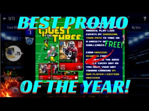 """*FREE* 119 OVR PLAYER!? INSANE """"QUEST FOR THREE"""" PROMO IN MADDEN MOBILE 18!"""