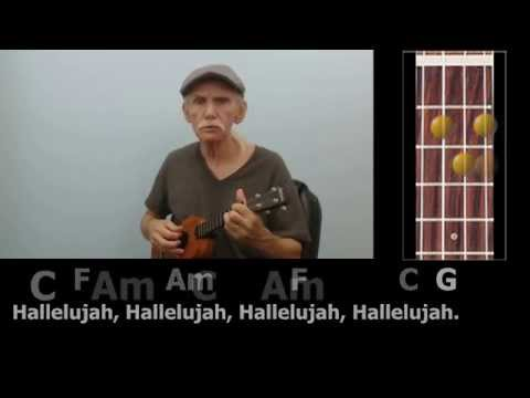 Hallelujah Fingerstyle Ukulele With Chords Lyrics Youtube