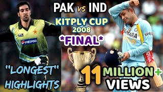 Download KITPLY Cup *FINAL* --- INDIA vs PAKISTAN || THE MOTHER of ALL FINAL in WORLD CRICKET || 2008 DHAKA Mp3 and Videos