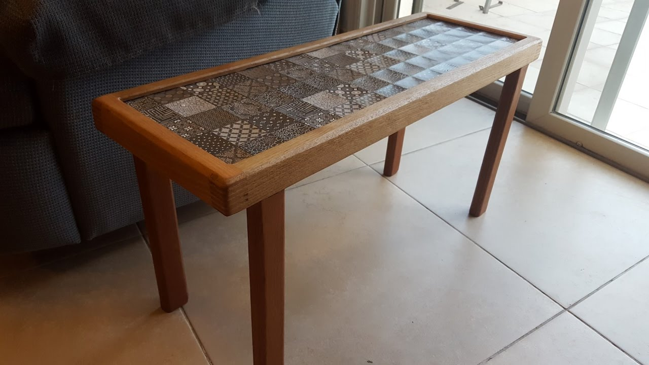 side table with ceramic tile top youtube