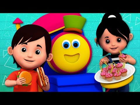 Food Song | Learning Street With Bob The Train | Sight Words | Cartoon Video For Babies By Kids Tv