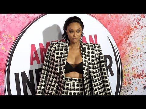 Tyra Banks 2019 American Influencer Awards Pink Carpet Fashion