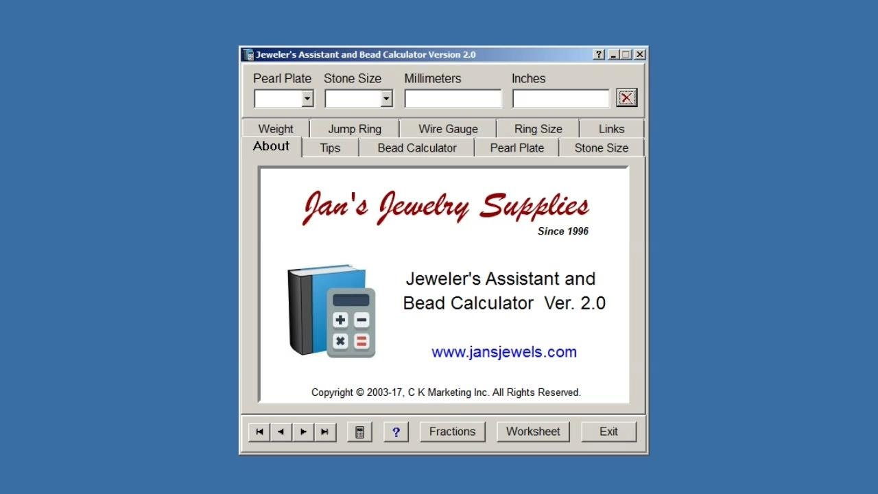 Jewelers assistant and bead calculator free software youtube jewelers assistant and bead calculator free software keyboard keysfo Images