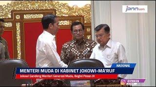Jokowi Gandeng Menteri Generasi Muda, Begini Pesan JK