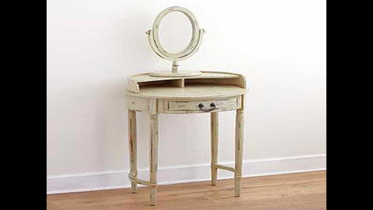 Bathroom Vanity Table ideas for small vanity table - youtube