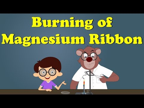 Burning Of Magnesium Ribbon Experiment | #aumsum