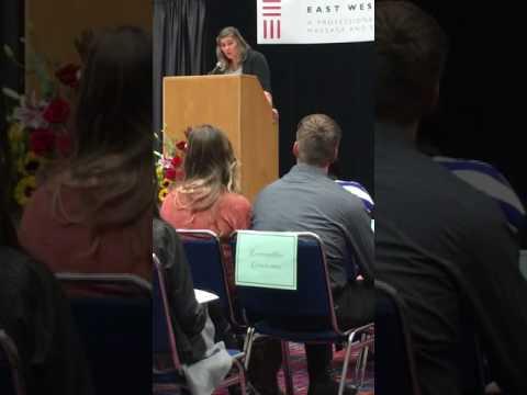 Commencement Speech East West College of Massage October 2016 speaker Crystal Calanca