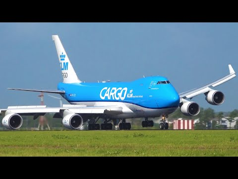 Planespotting Amsterdam | STORM Close-Up CROSSWIND Landings, Engine almost HIT RUNWAY, GoArounds