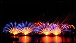 Kölner Lichter 2019, Feuerwerk auf dem Rhein in Köln
