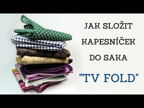 """Jak složit kapesníček do saka """"TV FOLD"""""""