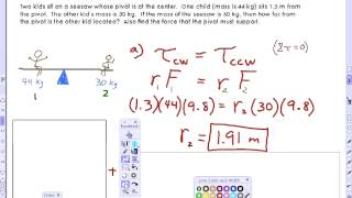 VIDEX: See Saw Torque Equilibrium
