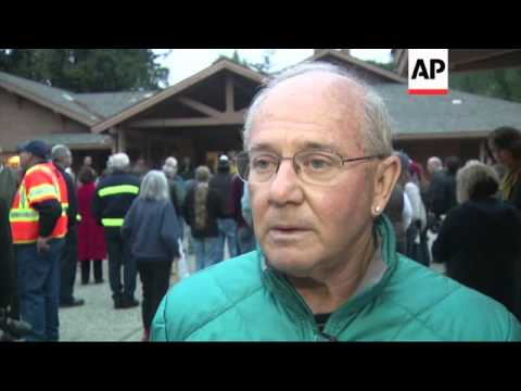 The approximately 100 people forced to evacuate from the Big Sur fire are waiting for the chance to