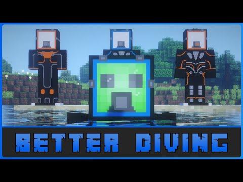 Minecraft: Deep Sea Diving!! 1.12.2 Better Diving Mod Showcase