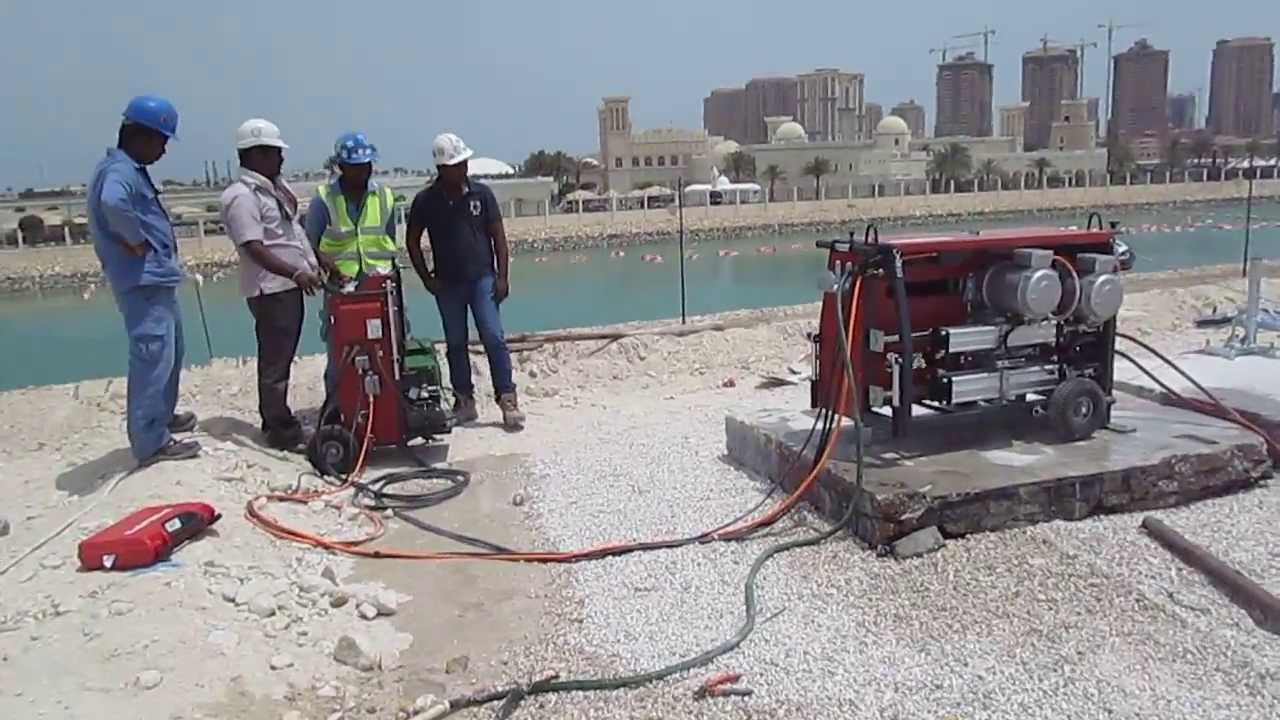 Hilti Diamond Wire saw system with DS WS15 - YouTube