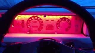 Fiat X1/9 eclairage du tableau de bord par led rouge