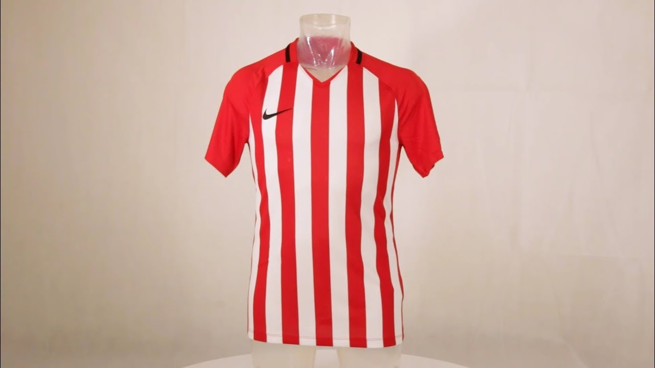 c2e8f41578 Nike Striped Division III Short Sleeve Senior Football Shirt University Red/ White