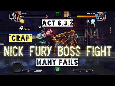 Act 6.3.2 Nick Fury Boss Fight - Many Fails