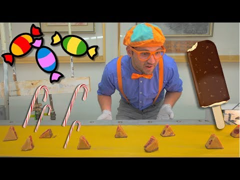 Blippi Tours the Chocolate Factory | Learn about Food for Children