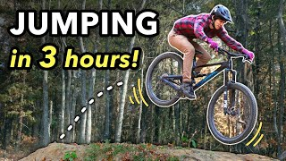 Learning to Jump in 3 hours with an Expert MTB Coach! // Mountain Bike Progression