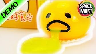 SCHLEIM EI Gudetama | Japanisches Spielzeug mit gelbem Glibber | Begeistert von verrücktem Spielzeug