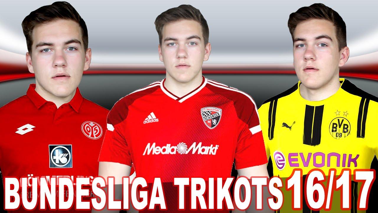 Neue bundesliga trikots 2016 2017 bayern m nchen for Bundesliga trikots