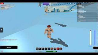 me and my roblox bf swimmin! :D