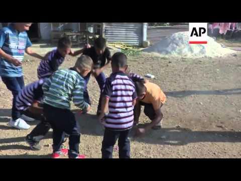 Syrian refugees sheltering in Lebanon mark Eid-al-Fitr festival