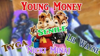 Young Money - Senile ft. Tyga, Nicki Minaj, Lil Wayne | Chipmunk Version