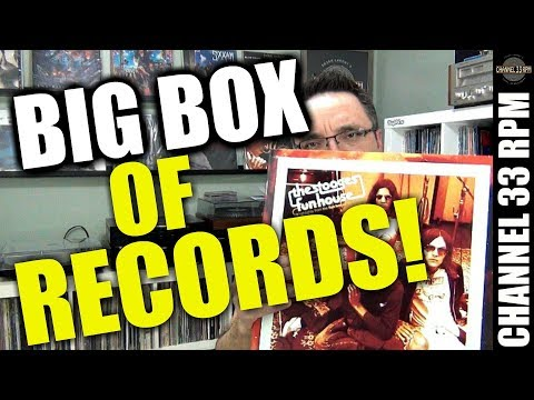 BIG BOX OF VINYL RECORDS from Runout Groove! Stooges and more