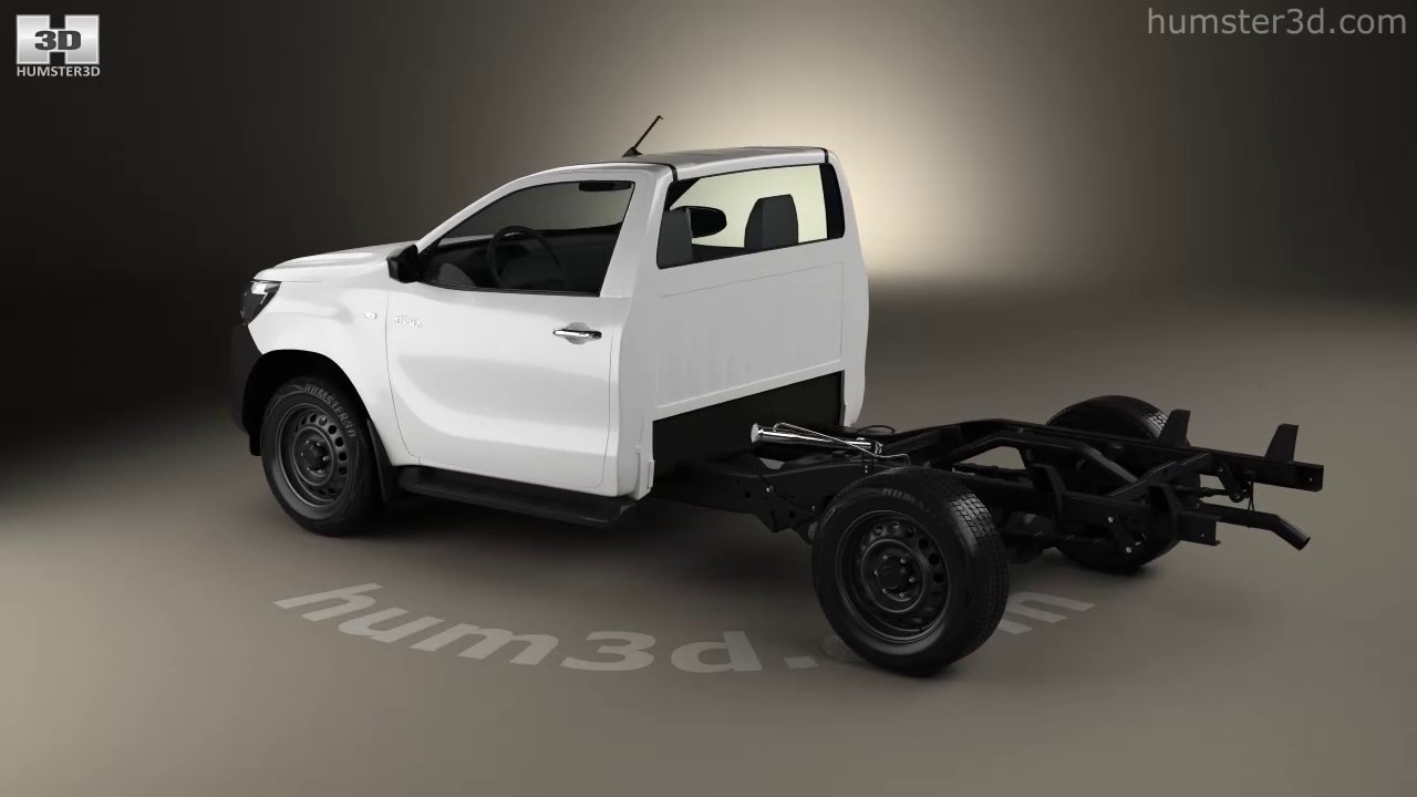 Toyota Hilux Workmate Single Cab Chassis 2015 3D model by ...