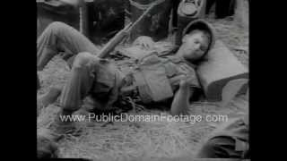 U.S. soldiers pinned down in heavy combat in Vietnam War Newsreel  www.PublicDomainFootage.com