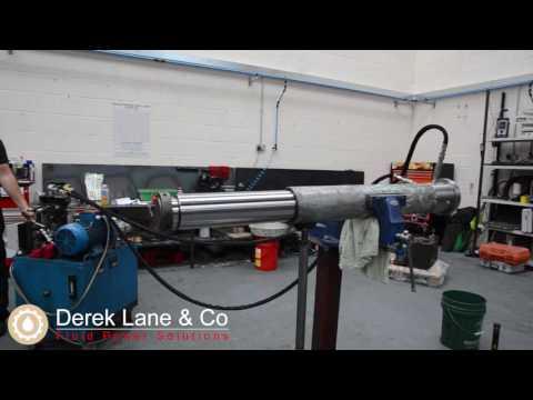 Testing A Telescopic Hydraulic Cylinder