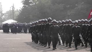 警視庁機動隊 観閲式 分列行進 review of Tokyo M.P.D. riot police 2013