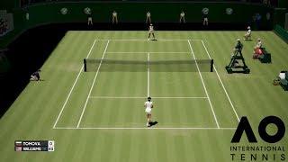 Viktoriya Tomovo vs Serena Williams - AO International Tennis - Gameplay