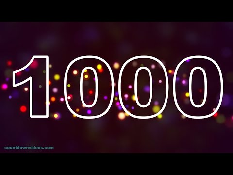 Counting Numbers From 10000 to 1 in Colorful Animated Background