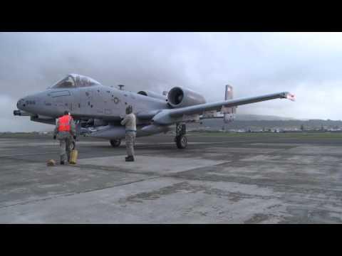 TSP A-10s Land at Lajes