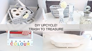 CHARITY SHOP UPCYCLE   THRIFT HOME DECOR   DIY PROJECTS   TRASH TO TREASURE