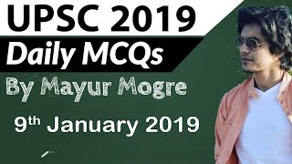 UPSC 2019 Preparation –9 January 2019 Daily Current Affairs for UPSC / IAS 2019